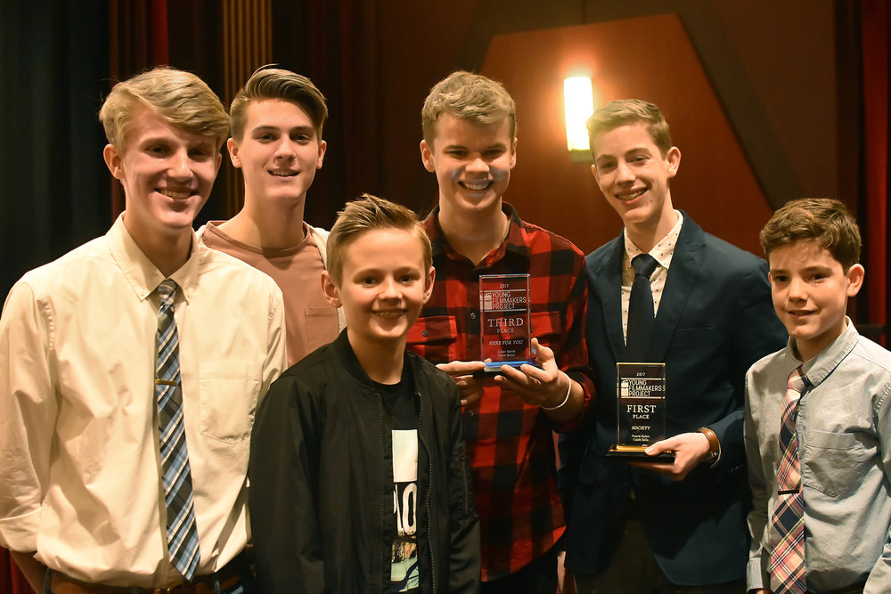 2017 winners show off their trophies during the special Top Ten screening.