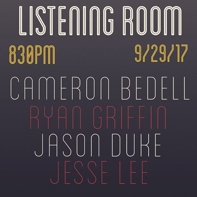 TOMORROW || 8:30PM || LISTENING ROOM  Come fangirl @cameronbedell with me. His voice will make you feel things 😍