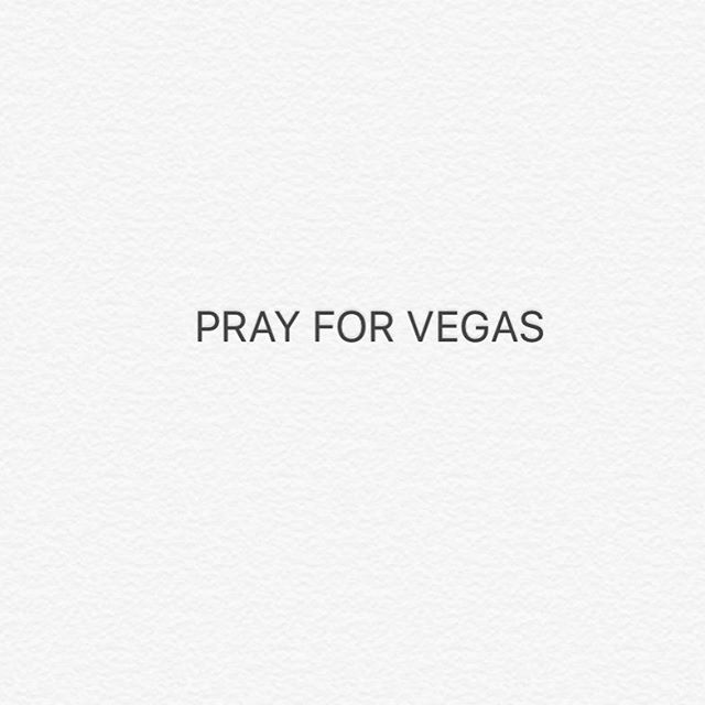 My heart hurts for the families that woke up to a different world without their loved ones. Words don't work today so I'm gonna hug my wife and baby a little tighter this morning...hits too close to home. #prayforVegas