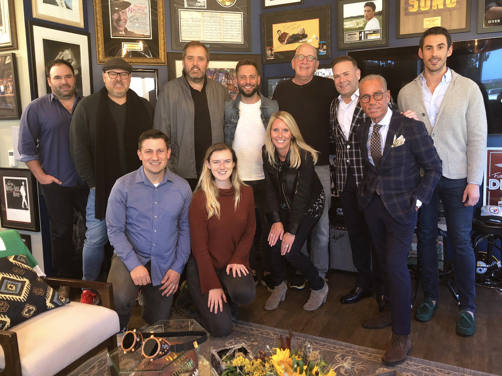 (L to R): Nate Ritches (Agent, Morris Higham Management); Shane Tarleton (SVP Artist Development, WMN); Daniel Lee (GM / VP Creative, Altadena); busbee (Founder / CEO, Altadena); Noreen Prunier (Creative Director, Altadena); Ryan Griffin; Kristen Williams (SVP Radio & Streaming, WMN); John Esposito (Chairman & CEO, WMN); Clint Higham (President, Morris Higham Management); Jess Rosen (Co-Chair, Greenberg Traurig's Atlanta Entertainment & Media); Will Hitchcock (Manager, Morris Higham Management)