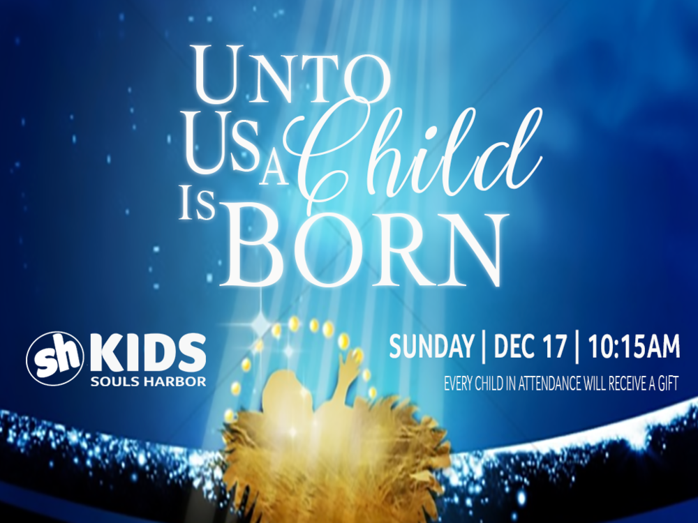 KIDS CHRISTMAS PROGRAM - Our SH Kids have been working hard practicing for this year's Christmas program SUN | DEC 17 | 10:15AM.Every child in attendance that morning will receive a present.
