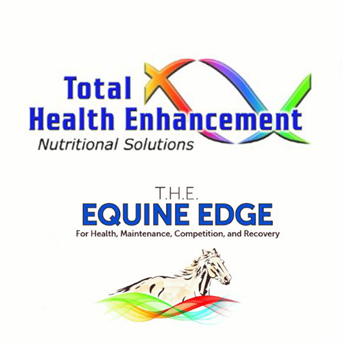 TOTAL HEALTH ENHANCEMENT (T.H.E)   T.H.E. Equine Edge provides a cutting-edge line of nutritional formulas for health, maintenance,competition and recovery for your athletic equine. All of our products contain natural ingredients of the highest quality to help insure our client's success. With the use of Nitric Oxide Pathway technology, our proprietary blends focus on protein, vitamins, amino acids, herbs and mineral supplements. We have been formulating for over 20 years in the equine industry, since 2010 we have concentrated on formulas for thoroughbred and quarter horse racing, dressage, hunter, show jumping, barrel racing, team roping, polo, reining and pleasure.