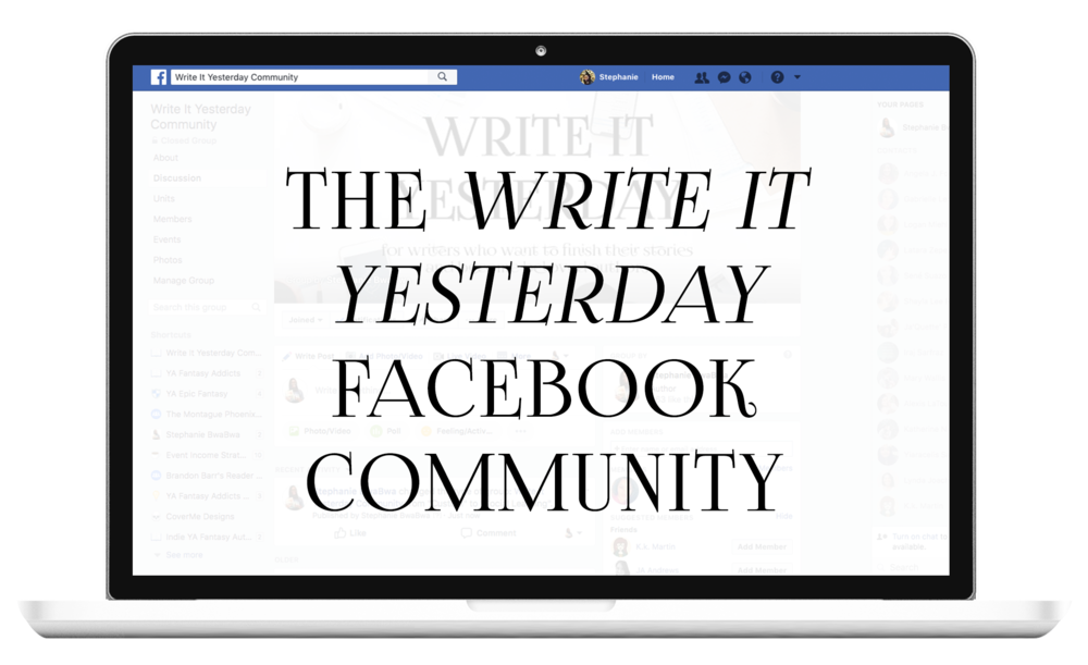 In need of a writing community where you can learn how to write your fiction novel? The Write It Yesterday community is for you.