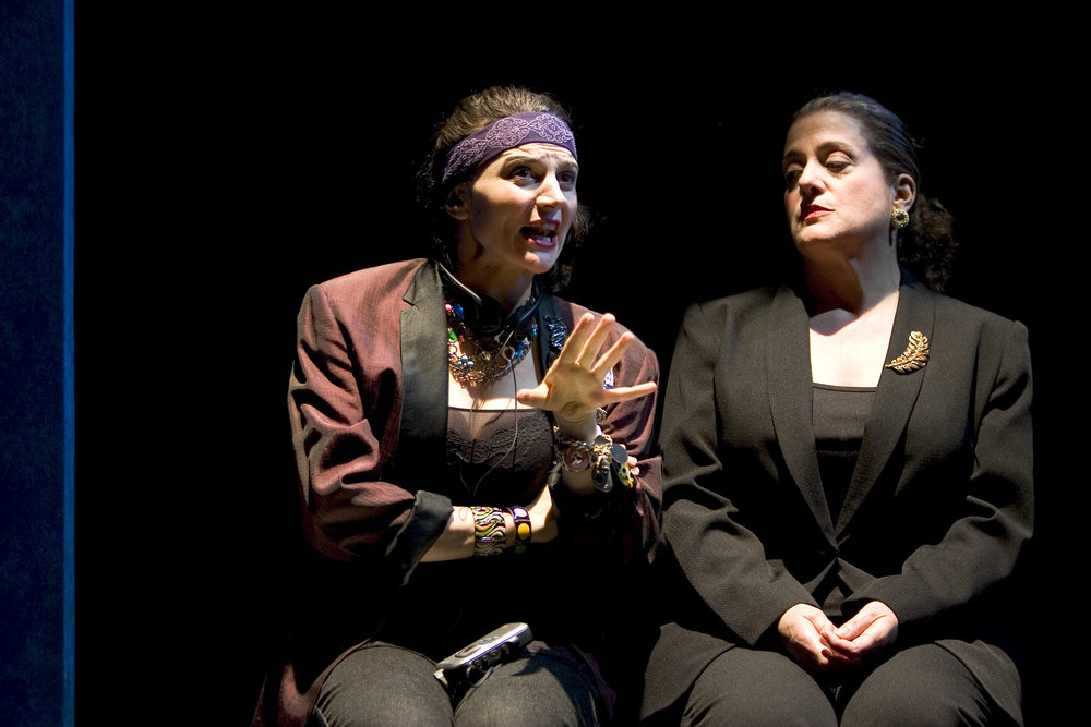 Antoinette LaVecchia and Marty Testa in STRING OF PEARLS directed by Eric Simonson, Primary Stages  Photo by James Leynse