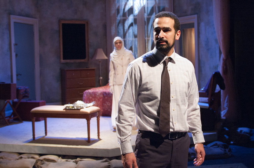Demetrios Troy and Atra Asdous in INANA directed by Kimberly Senior, TimeLine Theatre   Photo by Laura Goetsch