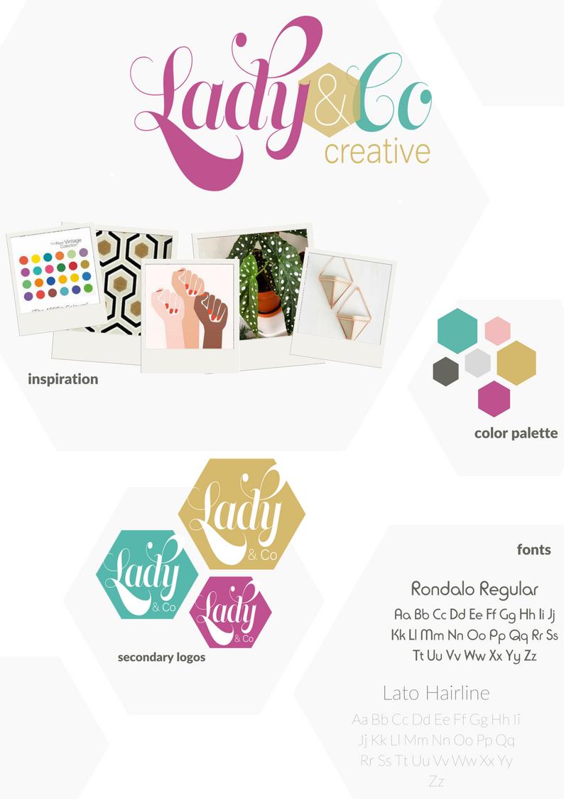 Branding Design Process Brand Board | Lady and Company Creative