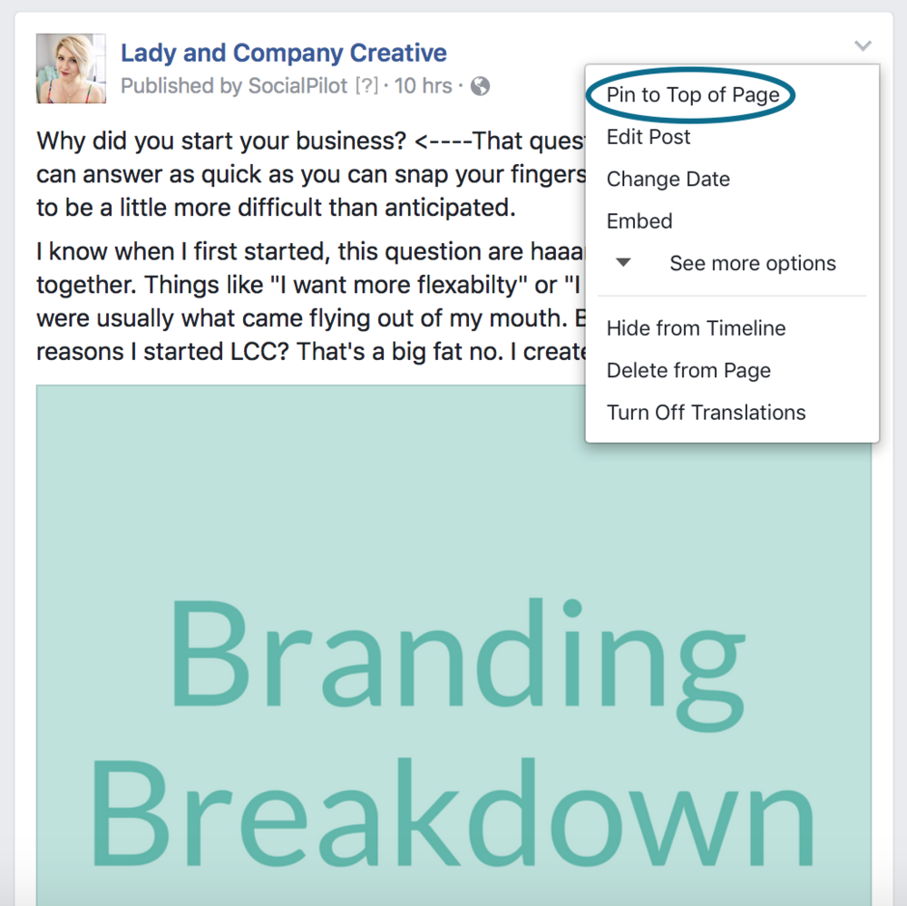 Optimize your Facebook business page | Lady and Company Creative
