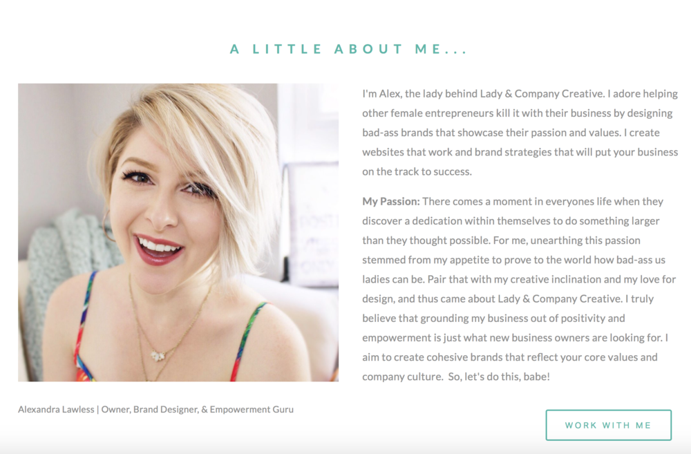 The 5 Pages Ever New Business Website Should Have | About Page | Lady and Company