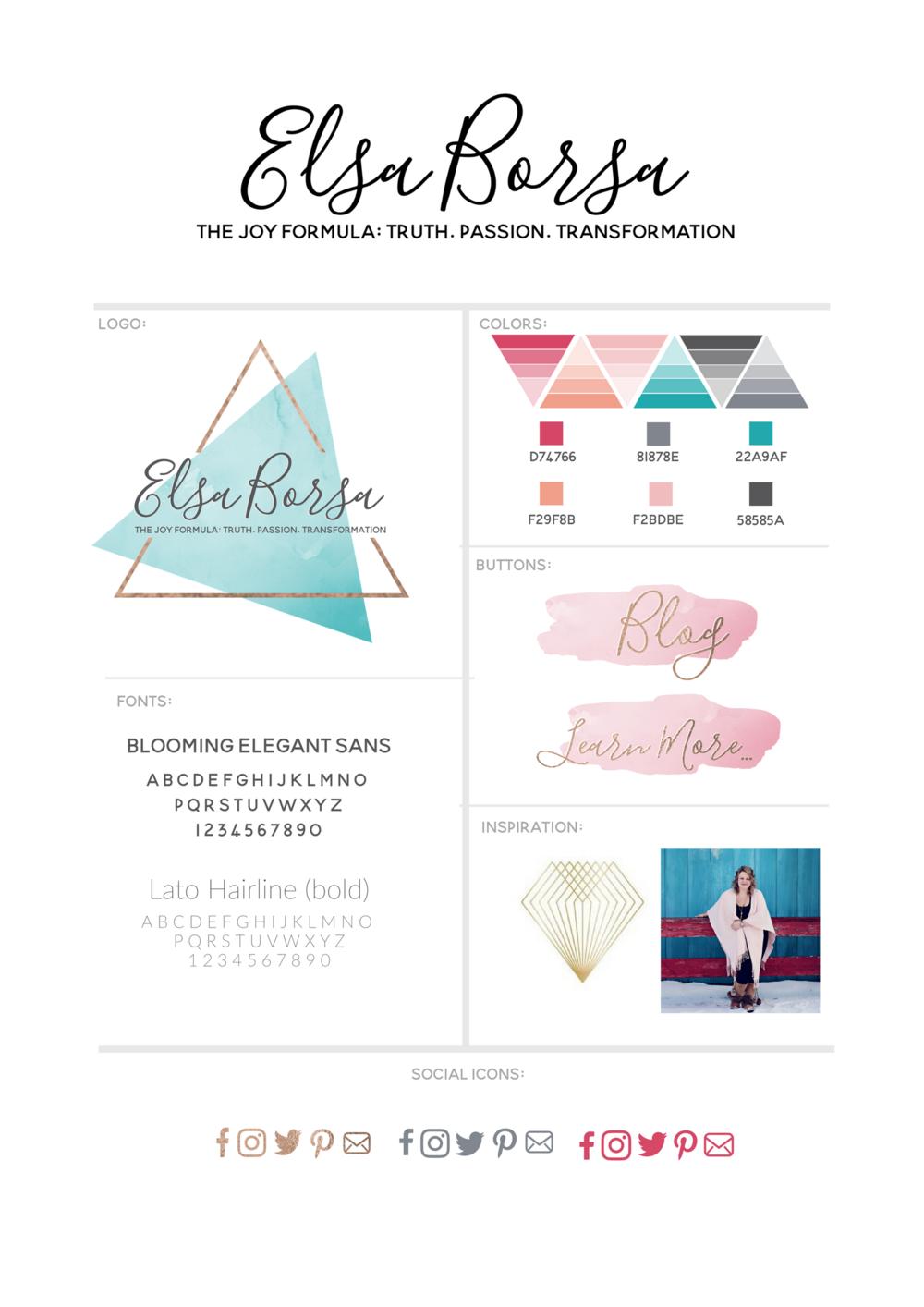 Elsa Borsa | Brand Board | elsaborsa.com | BRAND DESIGNER: Lady and Company Creative