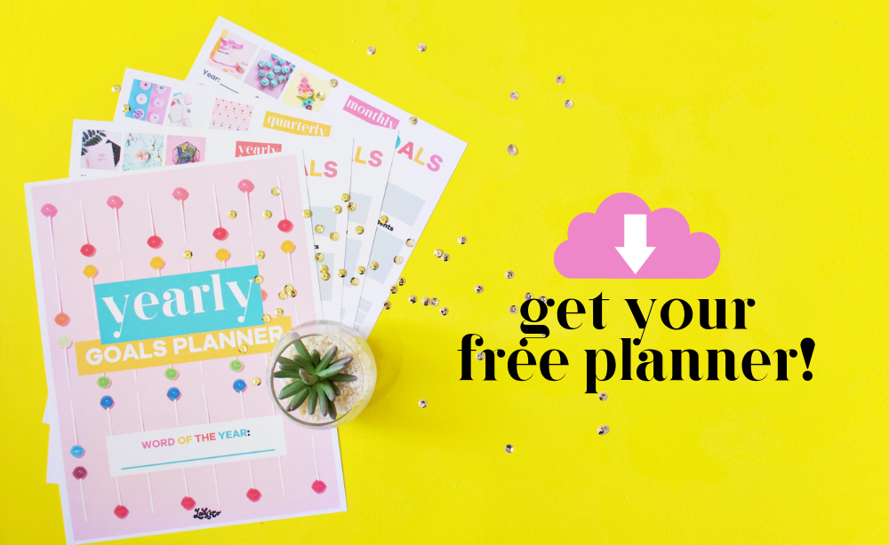 Yearly Goals Planner | 18 pages of monthly, quarterly, and yearly goal to help you stay on track and kick booty in your business | Lady and Company Creative | Alex Lawless | Branding Coach