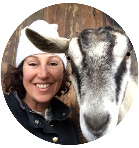 Deb Blum and one of her goats