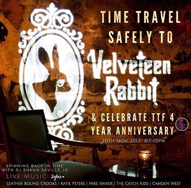 Come to the Velveteen Rabbit tonight to support @ttf_org!