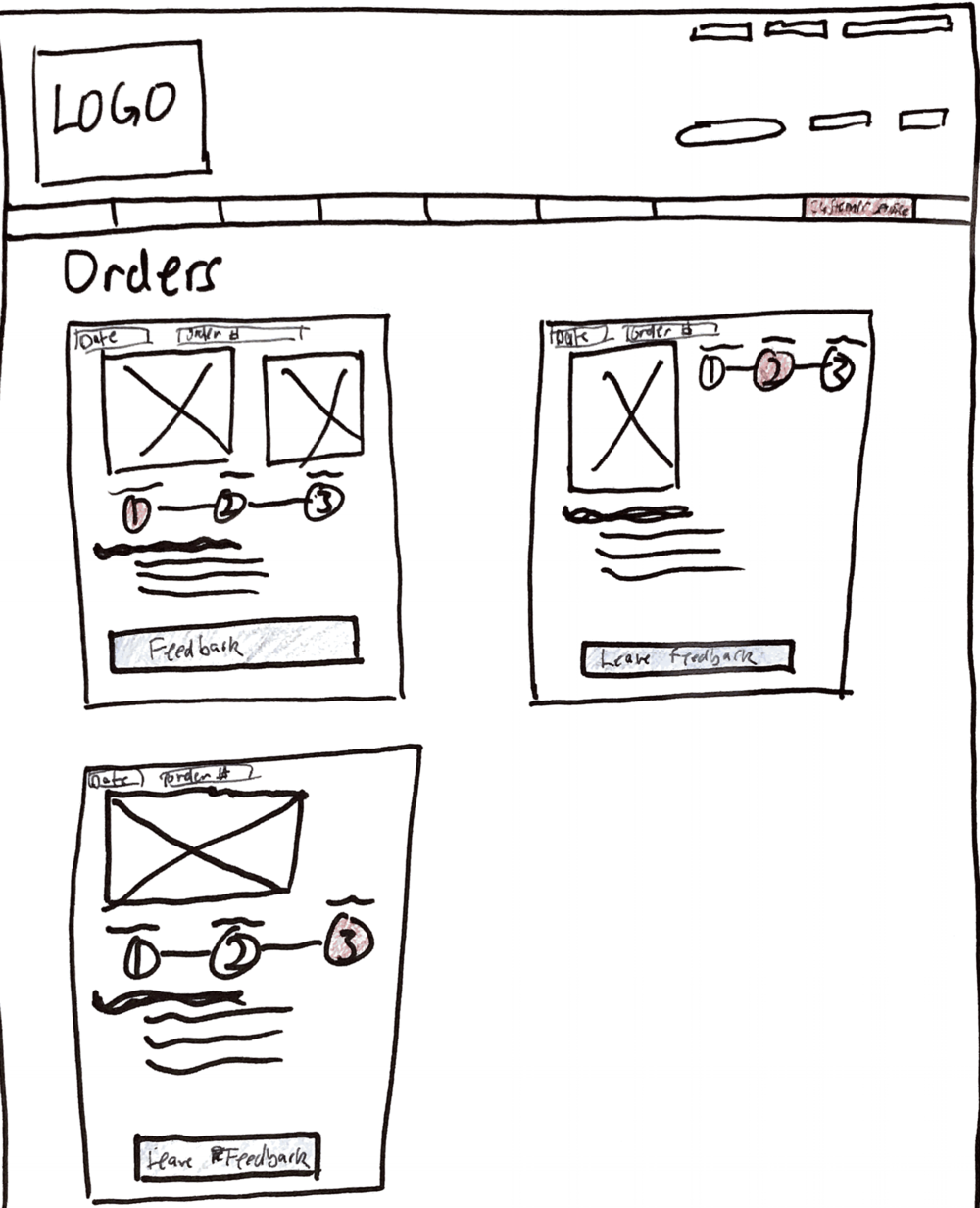 Leveraging modular design to convey information quickly - My goal was to create a modular design that would inform the customer of where, what, and when they could expect their package to be delivered.