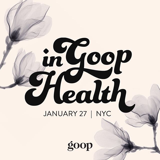 We're excited to share that we're teaming up with @goop at the first NYC edition of #ingoophealth on January 27. Tap the link in bio to get your tickets. Hope to see you there!