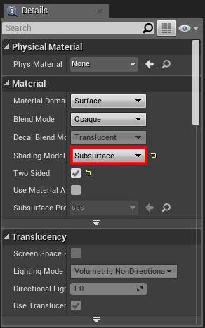 Subsurface Shading Model