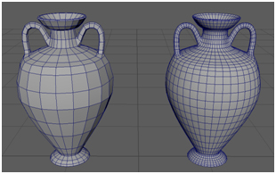 Low and Higher Poly Base Amphora Model + Wireframe