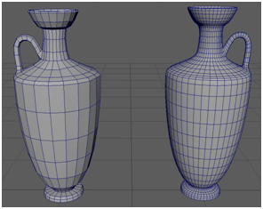 Low and Higher Poly Base Lekythos Model + Wireframe