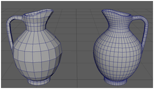 Low and Higher Poly Base Oinochoe Model + Wireframe