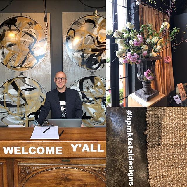 Our wonderful JP puts a smile on everyone's face that walks thru our door #welcome #happysaturday #hpmkt #market #interiordesign #decor #designer #style #color #art