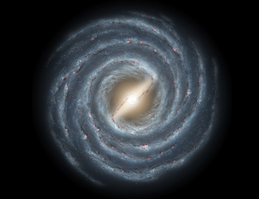 Artist's depiction of the Milky Way Galaxy.