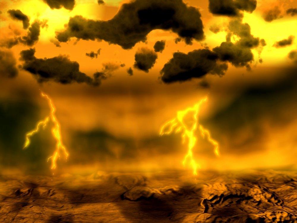 Artist concept of lightning on Venus. Image credit: ESA