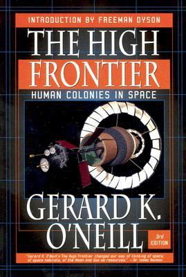 """""""  The High Frontier: Human Colonies in Space   is a 1976 book by  Gerard K. O'Neill.  It envisions large manned  habitats  in the Earth-Moon system, especially near stable  Lagrangian points . Three designs are proposed: Island one (a modified  Bernal sphere ), Island two (a  Stanford torus ), and  Island 3 , two O'Neill cylinders. These would be constructed using raw materials from the lunar surface launched into space using a  mass driver  and from  near-Earth asteroids . The habitats were to spin for simulated gravity and be illuminated and powered by the sun.  Solar power satellites  were proposed as a possible industry to support the habitats. The book won the 1977  Phi Beta Kappa Award in Science .""""\(^{[9]}\)"""