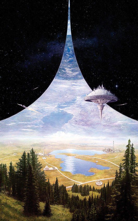 Artist's depiction of a ring world.  Image credit: https://www.deviantart.com/tomislavtikulin/art/Ringworld-Engineers-665659952