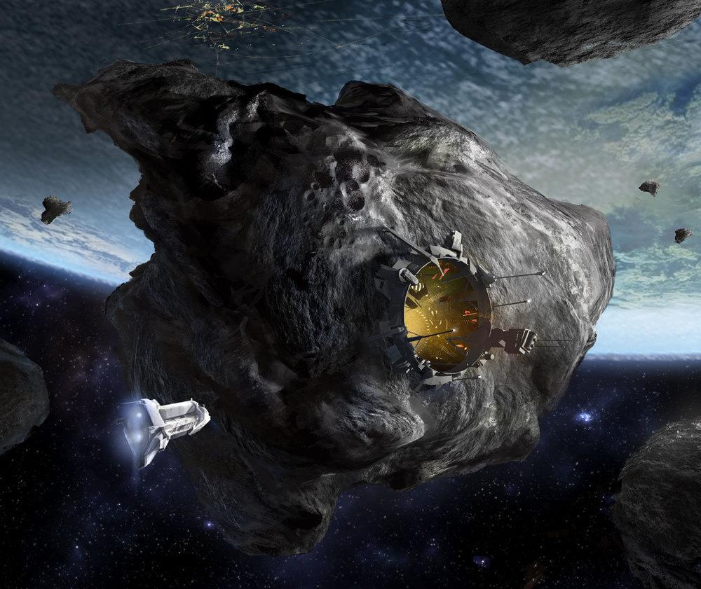 Asteroid Mining Station