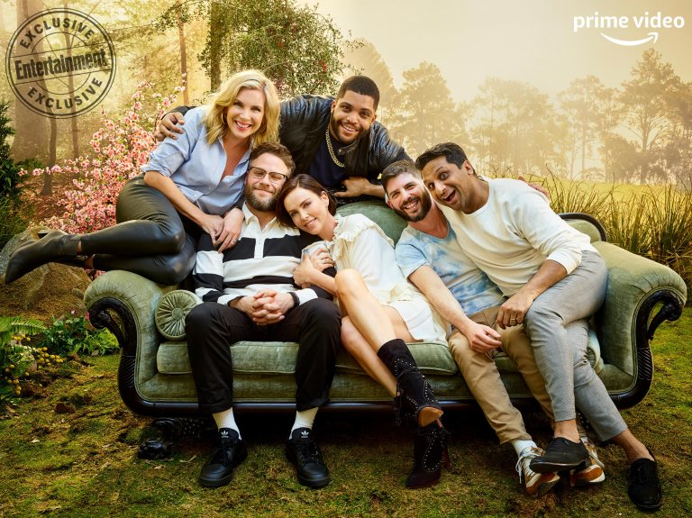 June Diane Raphael, O'Shea Jackson Jr., Seth Rogen, Charlize Theron, Jonathan Levine, and Ravi Patel (Lionsgate's Long Shot)