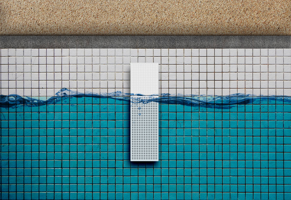 The pool unit will attach to the side of most pools to monitor the water.