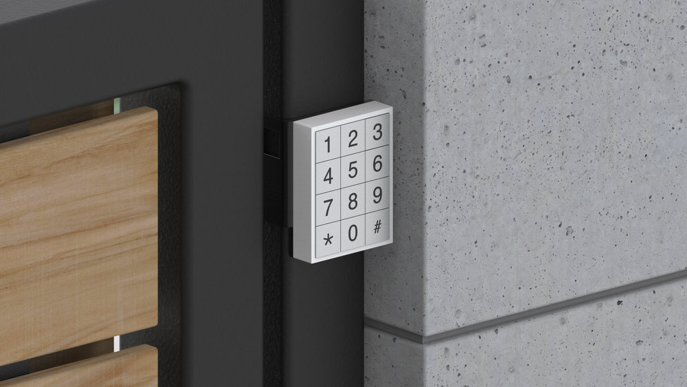 Keypad for Easy Access - Because it would be really annoying if the only way to unlock this was with your phone.