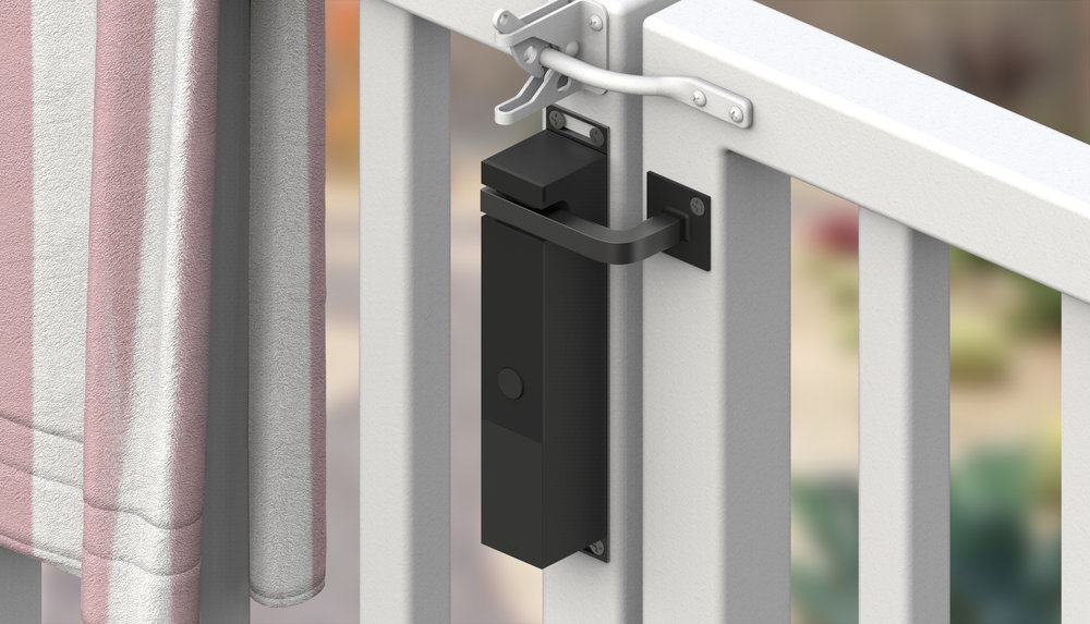 Works for Swing-Out Gates Too - Use the accompanying adapter to keep all your gates safe, regardless of which way they open.