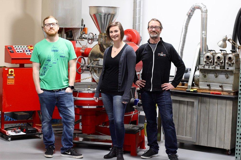 Chris, Rachel, & Paul of Thornton Family Coffee Roasters