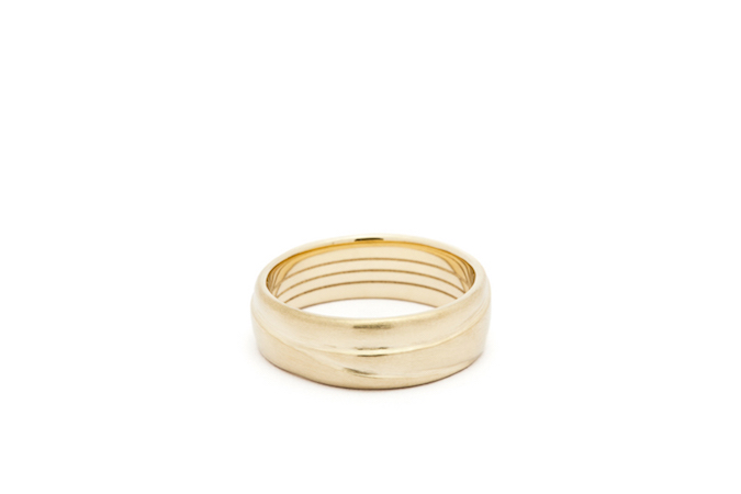 Custom Wedding Band,                    14K Yellow Gold
