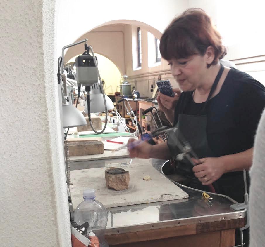 Lucia Massei teaching at Alchimia, May 2014.