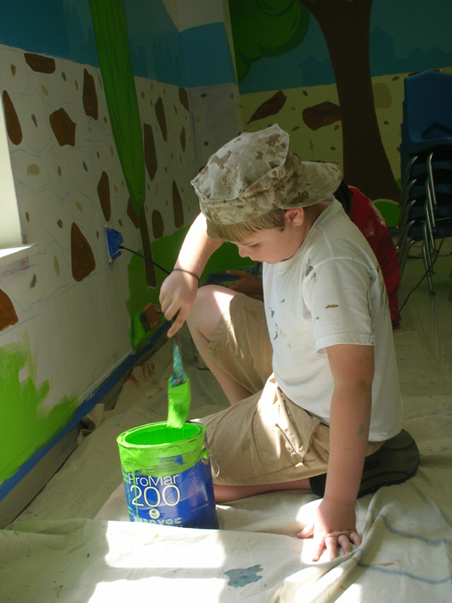 My son Jacob, the budding artist, at age 9. He's helped on many projects…