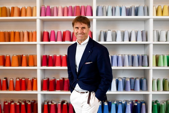 Brunello Cucinelli, Italian luxury creative director and the chief executive of his eponymous made in Italy brand, Brunello Cucinelli.