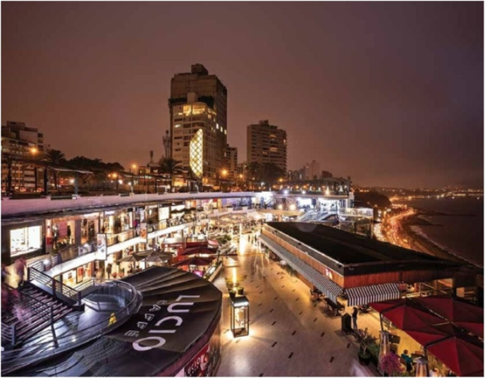 Larcomar shopping centre & the MIraflores waterfront
