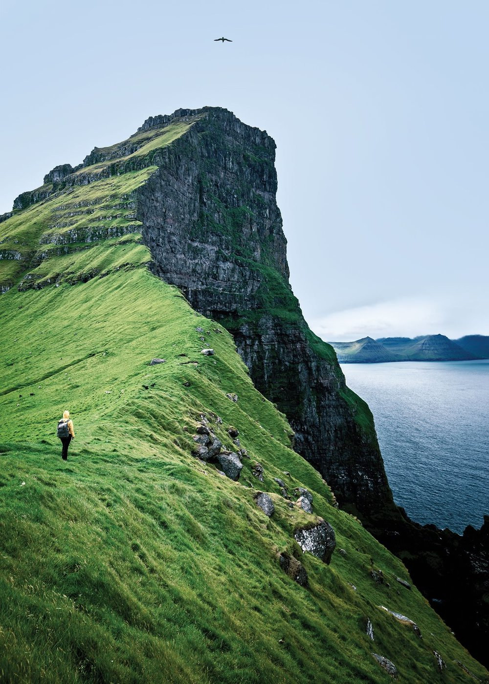 A hike to the Kallur lighthouse on Kalsoy in the Faroe Islands.    Photo by Francesco Riccardo Iacomino/Moment RF/Getty Images