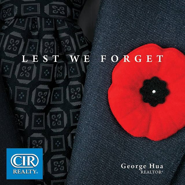 Lest we forget . . . #yyc #rememberanceday #poppy #2018 #yycre #ghuarealestate #honortheveterans #wwii