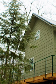 Adorable tree house- the deck wraps all the way around it!