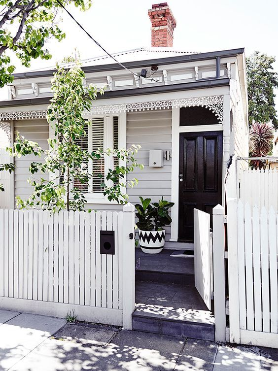 A soft greige (grey + beige) is an ideal exterior neutral. Image: Pinterest