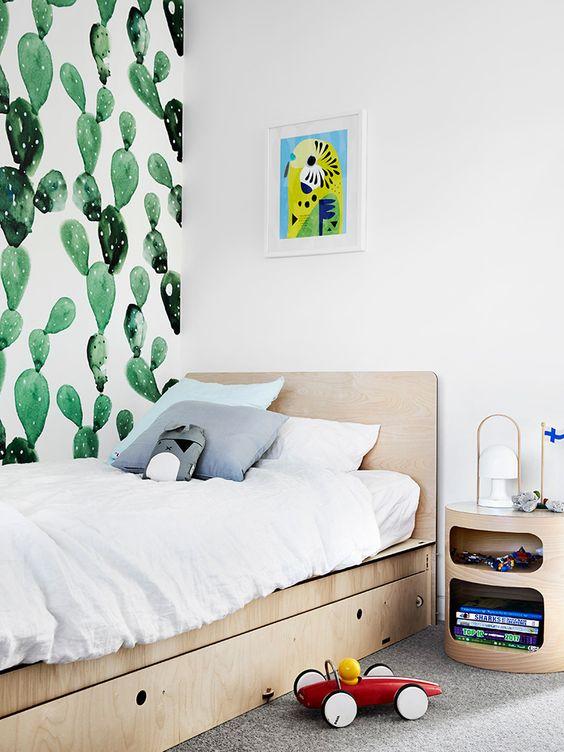 This room belongs to a cactus lover.Design Lauren Li,  Sisalla Interior Design