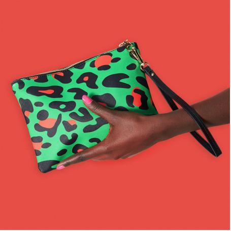 1. Leopard clutch