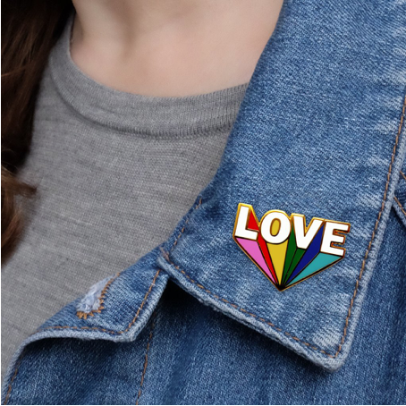 4. Love Beams enamel pin