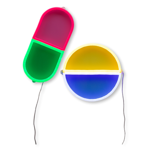 6. Neon happy pills