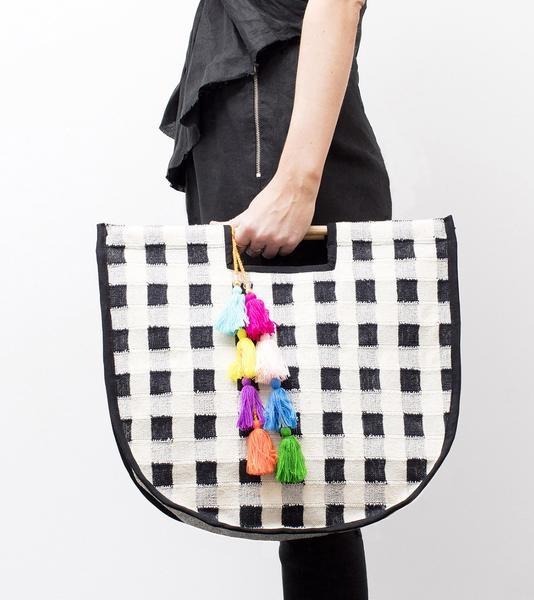 6. Gingham bag