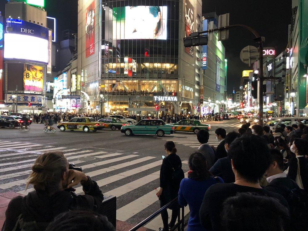The Shibuya Crossing in Shibuya-ku,Japan