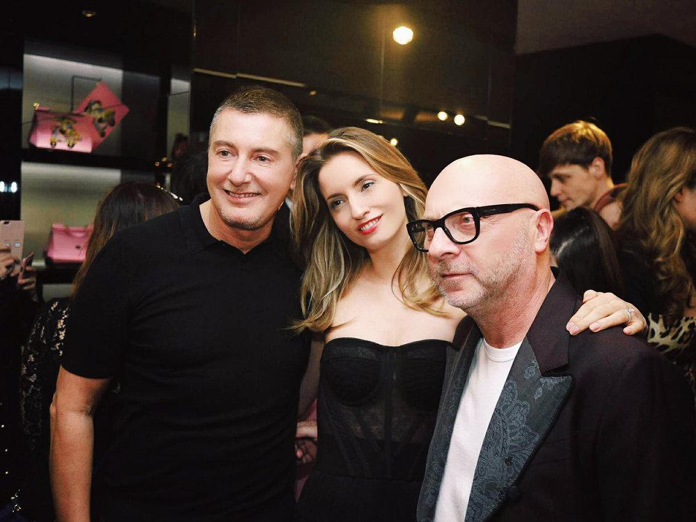 Stefano Gabbana, Kelly England, Domenico Dolce