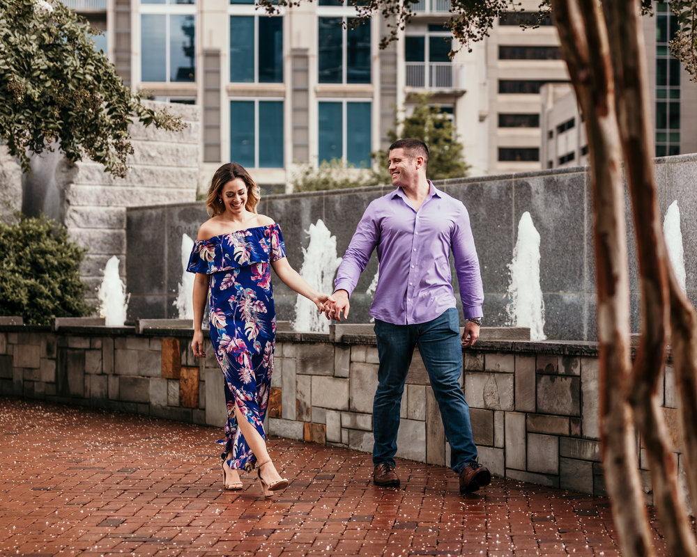 Uptown Charlotte Engagement Photography